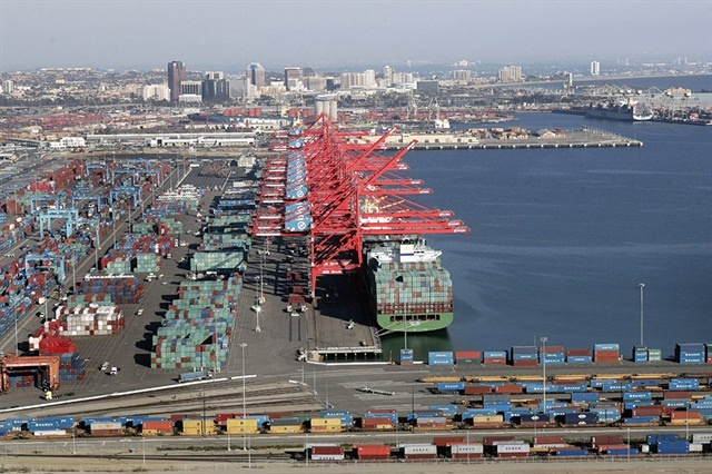 XPO Logistics Cartage is being sued by three drivers who claim they were improperly classified as independent contractors instead of as employees. Photo: Port of Long Beach