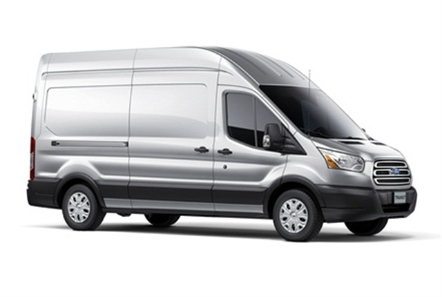 The upcoming full-size Transit van will be offered with two gasoline V-6 engines and an inline 5-cylinder diesel.