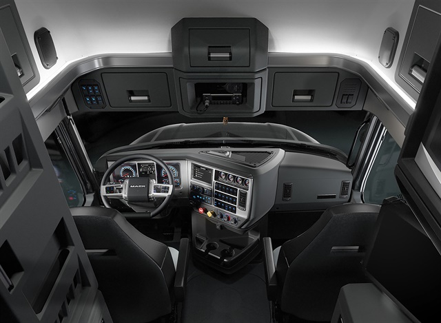 The Mack Anthem features an all-new driving environment that incorporates driver feedback for improved functionality, ergonomics and convenience. Photo: Mack