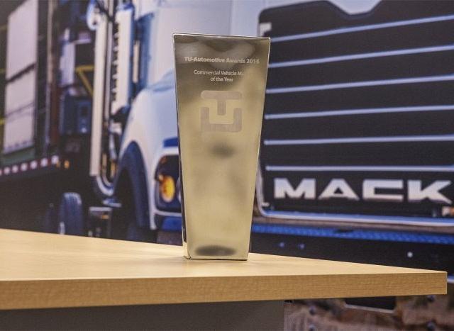 TU-Automotive recently named Mack Trucks its 2015 Commercial Vehicle Maker of the Year. Photo courtesy of Mack Trucks