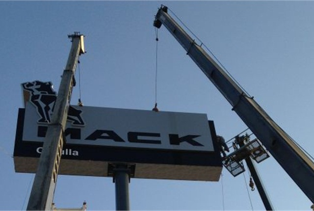 World's largest Mack Trucks pylon sign. Photo: Mack Trucks