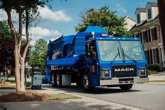 Mack LR model refuse truck Photo: Mack Trucks