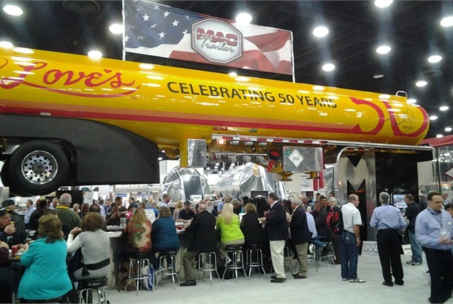 The show floor at MATS in 2014. Photo by HDT staff