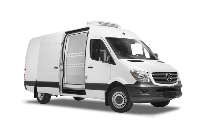 Photo of Mercedes-Benz Sprinter upfitted for refrigerated cargo courtesy of MBUSA.