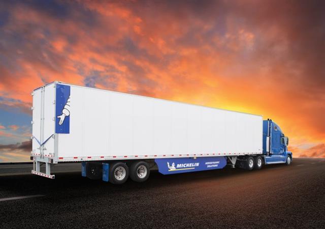 Aerodynamic Tractor Trailer : Michelin unveils energy guard tractor trailer aerodynamic