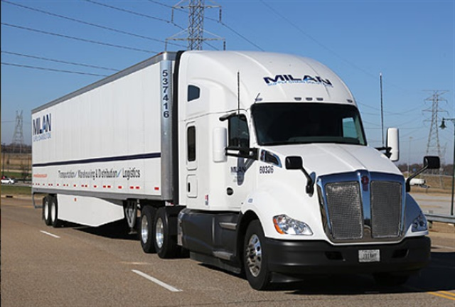 Milan is one of many trucking companies that have announced pay incentives aimed at recruiting new prospects and retaining experienced drivers. Photo via Milan Supply Chain Solutions