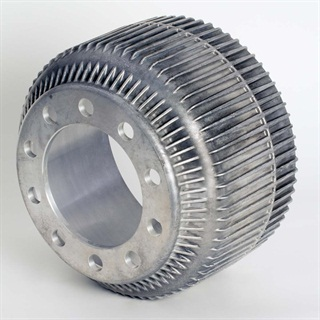 Accuride's MMC brake drum could save up to 100 pounds per axle. Photo: Accuride