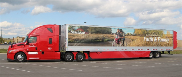 Nussbaum Transportation used several different trailers during the run. Photo: NACFE