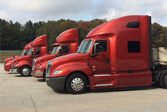 Navistar included all its latest models for test drives at an event at its proving grounds outside of New Carlisle, IN, earlier this week.Photo: Jack Roberts