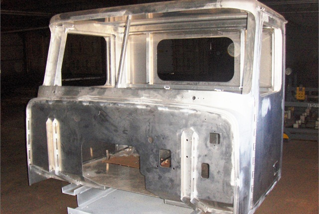 T-Line's aluminum cab, built by a body maker in Wisconsin, can be altered for specialty applications. Photo: Diamond Specialty Vehicles LLC