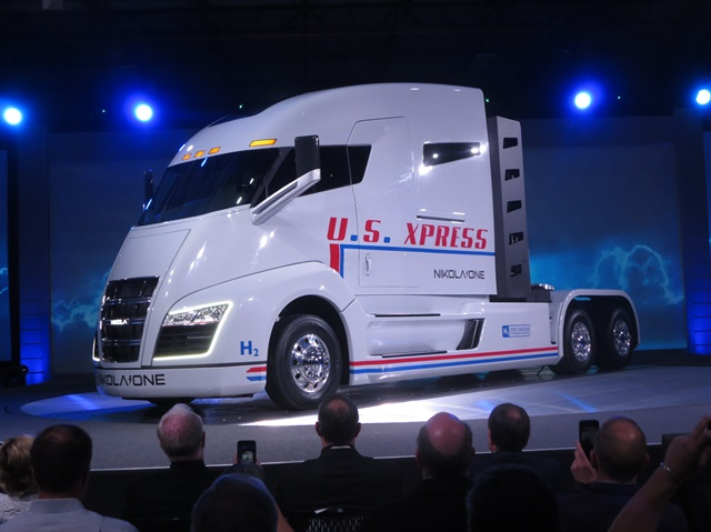 Nikola recently introduced the hydrogen fueled, electric-powered Class 8 Nikola One. Photo: Tom Berg