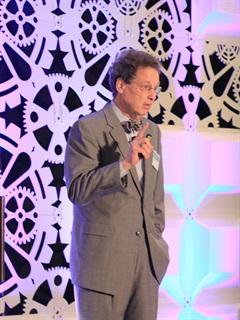 Noel Perry speaks at the ALK Transportation Technology Summit. Photo: Jim Beach