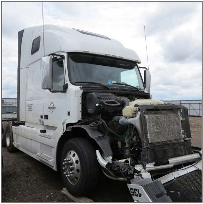 The truck after the crash. The NTSB said the driver may have been fatigued, and that collision avoidance/collision mitigation technology could have prevented or reduced the severity of the crash. Photo: NTSB