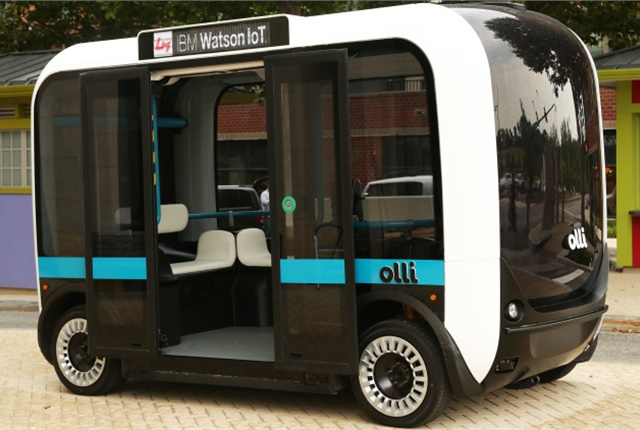 A study by global marketing research firm Tractia has found that the growth potential for automous trucks and buses over the next five years is huge. Photo: Local Motors