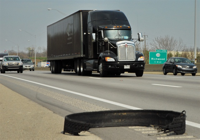 More tread separation incidents result from running inadequate tire pressure for the load.