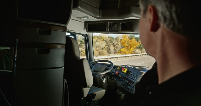 The driver monitored the 120-mile trip on I-25 from the sleeper. Photo courtesy Otto.