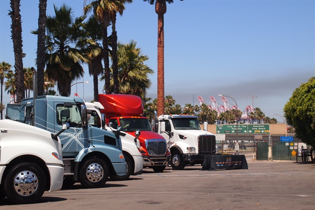 New trucks were available to Draytech attendees to check out during the event. Photos: Steven Martinez