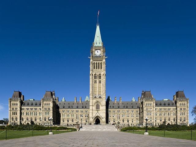 Parliament Hill, Ottawa, Canada. Photo via Wikimedia Commons