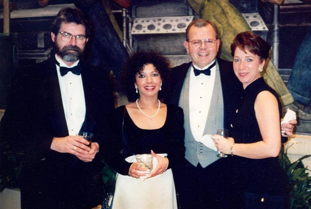 This snapshot shows a younger Pennington, second from right, with wife Patsy, enjoying an event with Rolf Lockwood of Today's Trucking magazine and his wife Sharon. (Photo courtesy Rolf Lockwood)