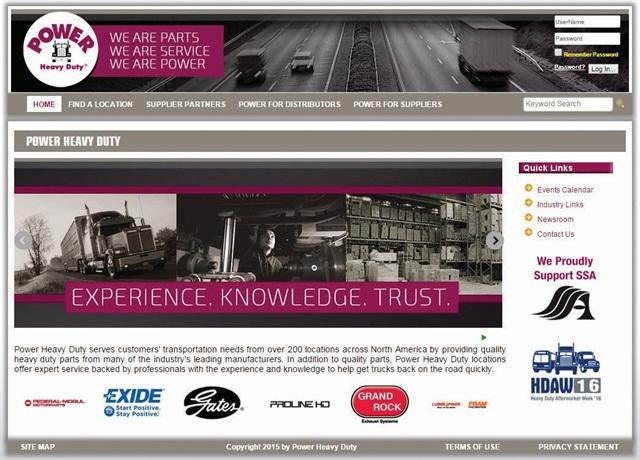 Power Heavy Duty's new website.