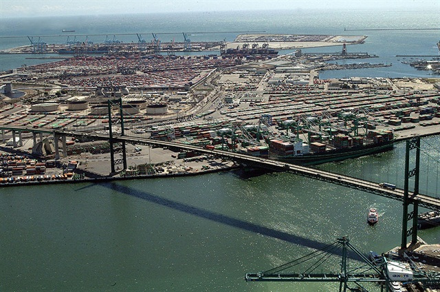 The Port of Los Angeles.