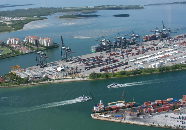 Port of Miami via Wikimedia Commons