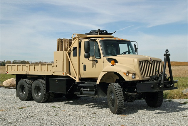Trucks for Afghanistan are based on International WorkStar vocational chassis. Some will get armored cabs.  Photo: Navistar