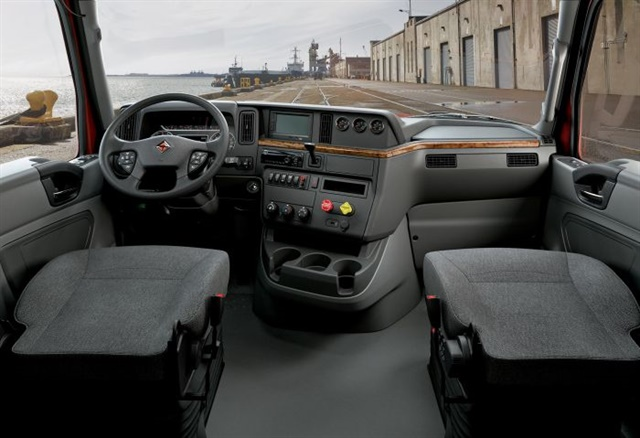 International said the RH interior is designed around how a driver will interact with the truck from the inside.