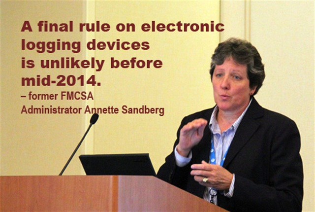 Annette Sandberg, CEO of TransSafe Consulting and former FMCSA administrator.