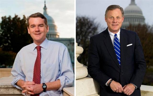 Sens. Michael Bennet D-Colo. (left) and Richard Burr R-N.C. Offical Senate photos