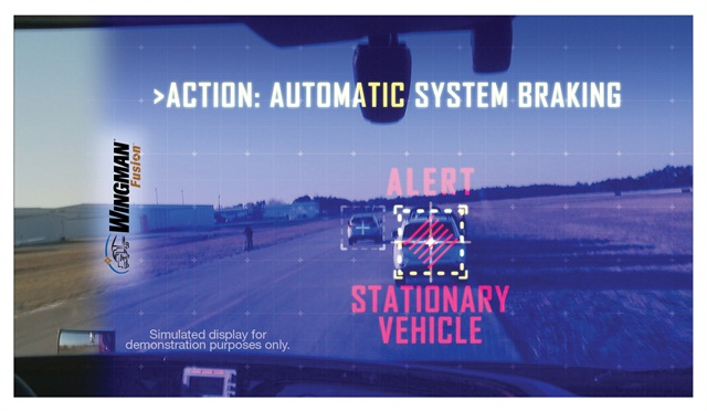 The latest collision-mitigation systems warn drivers of impending collisions, then apply the brakes if they take no action. Photo: Bendix