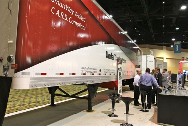 The SmartTruck trailer on display during this past October's ATA Management Conference and Exhibition. Photo: Evan Lockridge