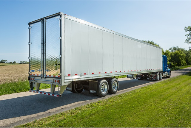 Stoughton's new PureBlue refrigerated trailer. Photo: Stoughton