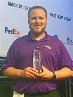 FedEx Freight technician Mark McLean said he hopes to one day move into fleet management and share his knowledge and experience with young, up-and-coming technicians.