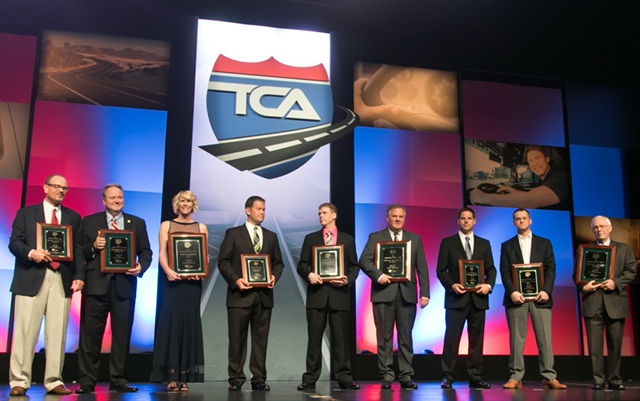 Last year's Fleet Safety Award winners recieving their awards. Photo: TCA