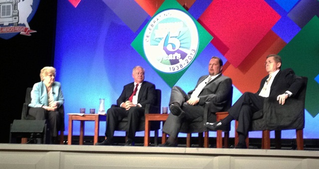 Lana Batts, Max Fuller, Derek Leathers and Dan England during TCA's Tuesday General Session.