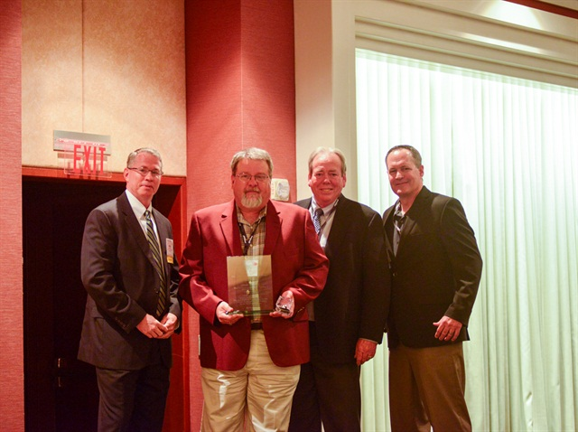 From Left: TCA President, Brad Bentley, award recipient Dean Newell, Rande Walker, President of Creative Concepts and John Joines, VP of Safety Services, Great West Casualty. Photo: TCA