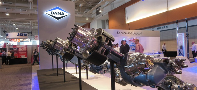 Dana's booth at the Technology & Maintenance Council meeting earlier this year.