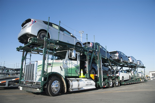 Toyota Transport Testing First CNG Car Hauler