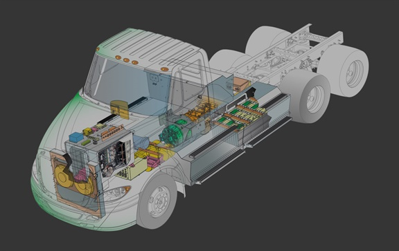TransPower's electric truck.