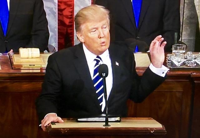 President Trump addressing Congress on Feb. 28. Image via WhiteHouse.gov