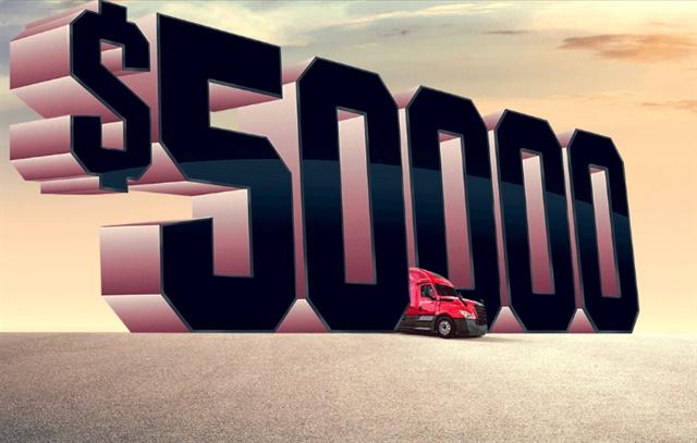 U.S. Xpress is offering 50,000 in bonuses for team drivers under its new TeamMax program. Image via U.S. Xpress