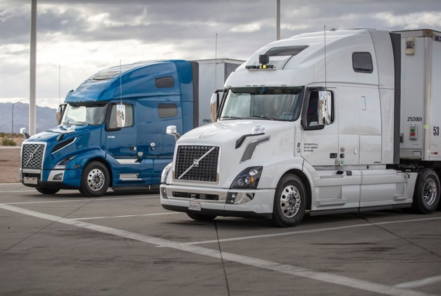 Uber sees its self-driving trucks taking over many of the long-haul cross country routes while traditionally driven trucks transfer the goods in regional settings. Photo: Uber ATG