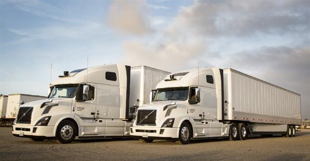 Uber stated in a blog post that it expects self-driving trucks to help the industry deal with higher demand. Photo via Uber
