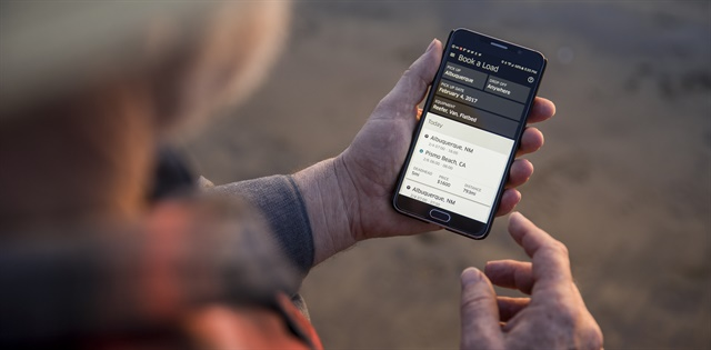 Owner-operators and small fleets can find loads via their mobile devices. Photo: Aether Films, courtesy Uber Freight