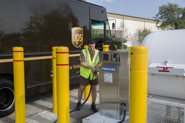 By the end of 2016, UPS will have invested more than $750 million in alternative fuel and advanced technology vehicles and fueling stations globally since 2009, including propane autogas vehicles. (Photo courtesy of UPS)
