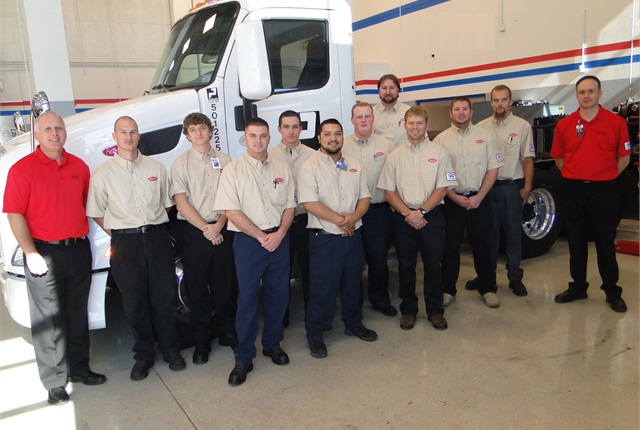 The first class of the Peterbilt Technician Institute.