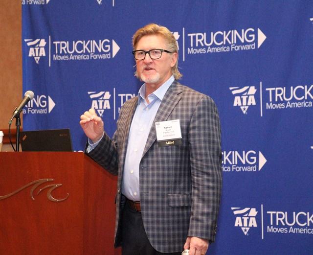 Vigillo CEO Steven Bryan outlines new Prescriptive Analytics Solution developed in partnership with J.J. Keller. Photo: Evan Lockridge