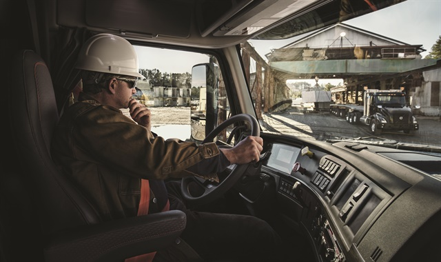 The dashboard on the VNX has been optimized to reduce distraction by displaying the critical information a professional driver needs at a quick glance and by grouping frequently used controls within easy reach. Photo: Volvo Trucks