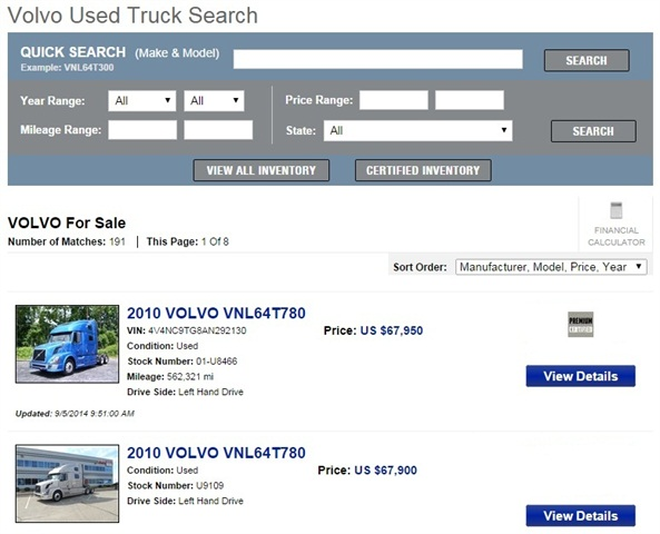 Volvo Launches Premium Certified Used Truck Program